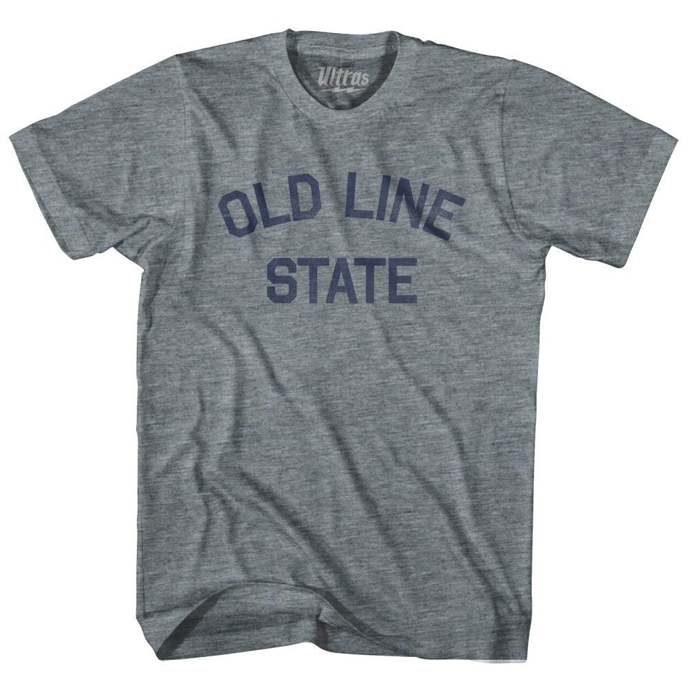 Maryland Old Line State Nickname Adult Tri-Blend T-shirt by Ultras