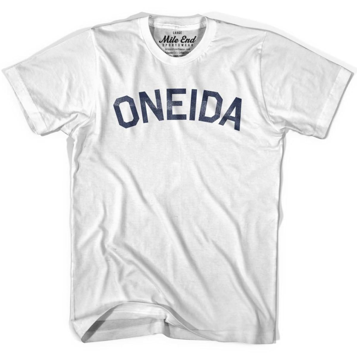 Oneida Tribe Vintage T-shirt - Grey Heather / Youth X-Small - Mile End City