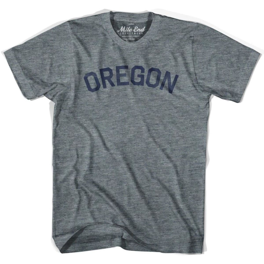 Oregon City Vintage T-shirt - Athletic Grey / Adult X-Small - Mile End City
