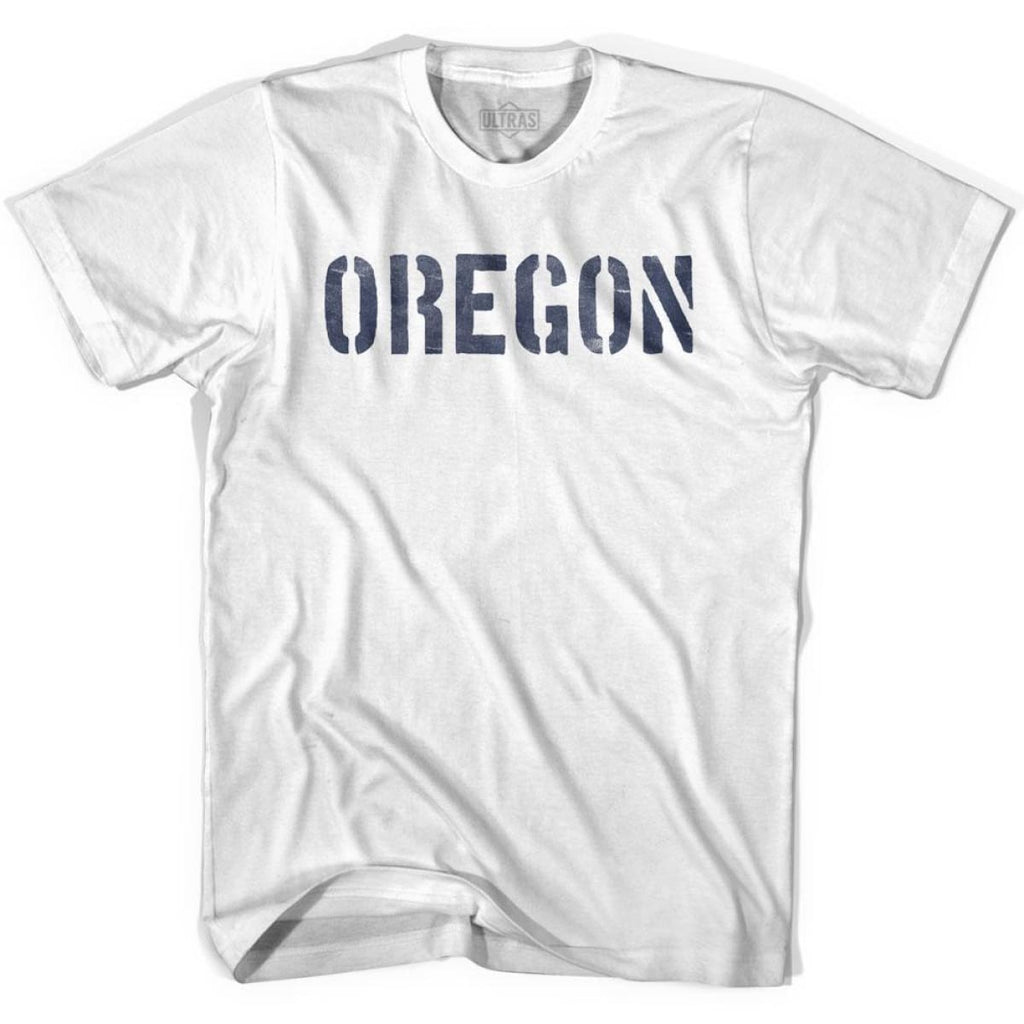 Oregon State Stencil Youth Cotton T-shirt - White / Youth X-Small - Stencil State