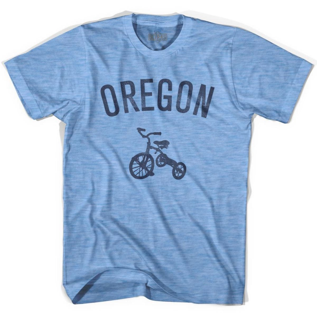 Oregon State Tricycle Adult Tri-Blend T-shirt - Athletic Blue / Adult Small - Tricycle State