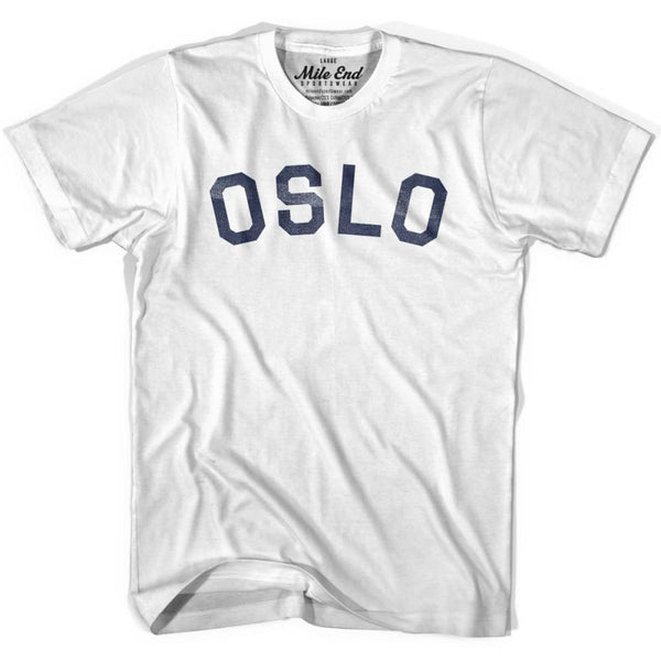 Oslo City Vintage T-shirt - White / Youth Small - Mile End City