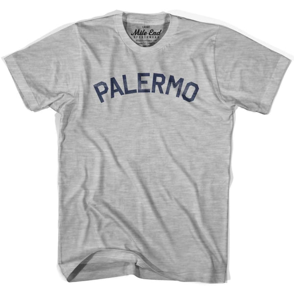 Palermo City Vintage T-shirt - Grey Heather / Youth Small - Mile End City