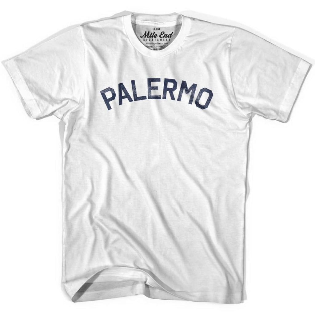 Palermo City Vintage T-shirt - White / Youth Small - Mile End City