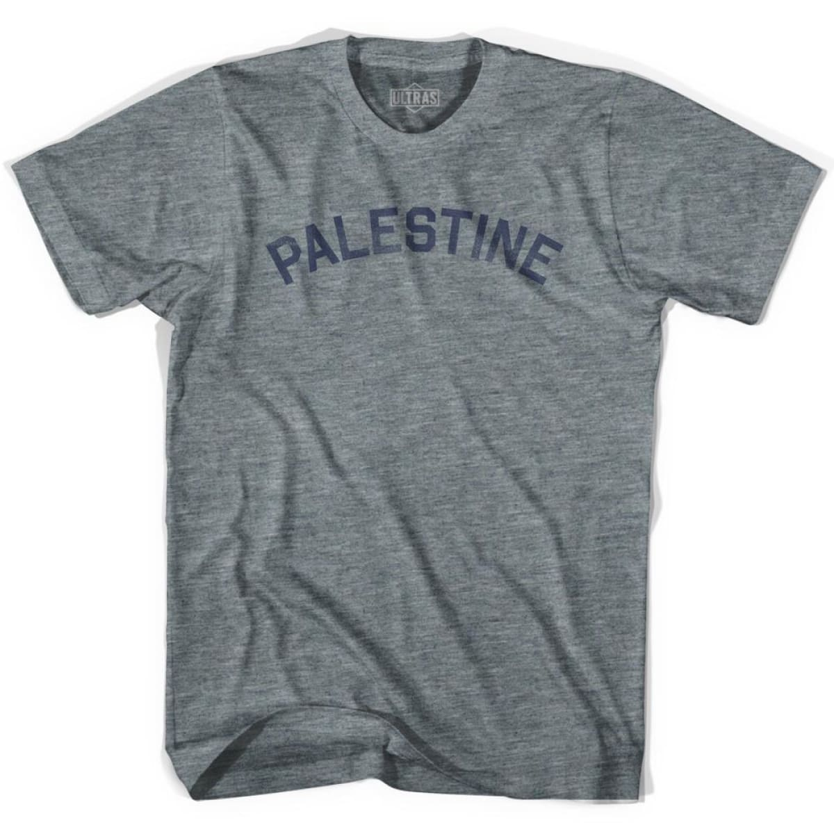 Palestine Vintage City Youth Tri-Blend T-shirt - Athletic Grey / Youth X-Small - Asian Vintage Country