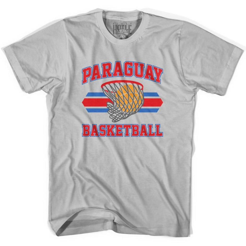Paraguay 90s Basketball T-shirts - Silver / Youth X-Small - Basketball T-shirt