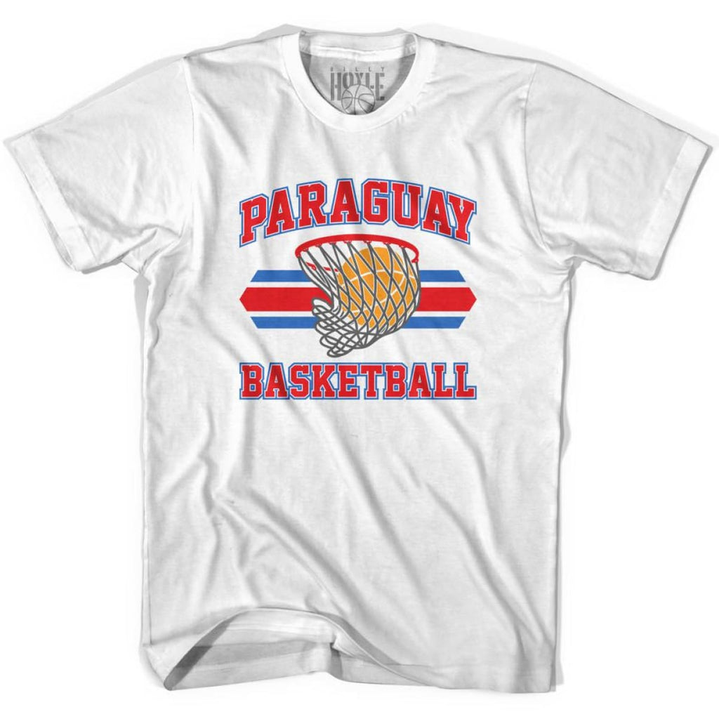 Paraguay 90s Basketball T-shirts - White / Youth X-Small - Basketball T-shirt