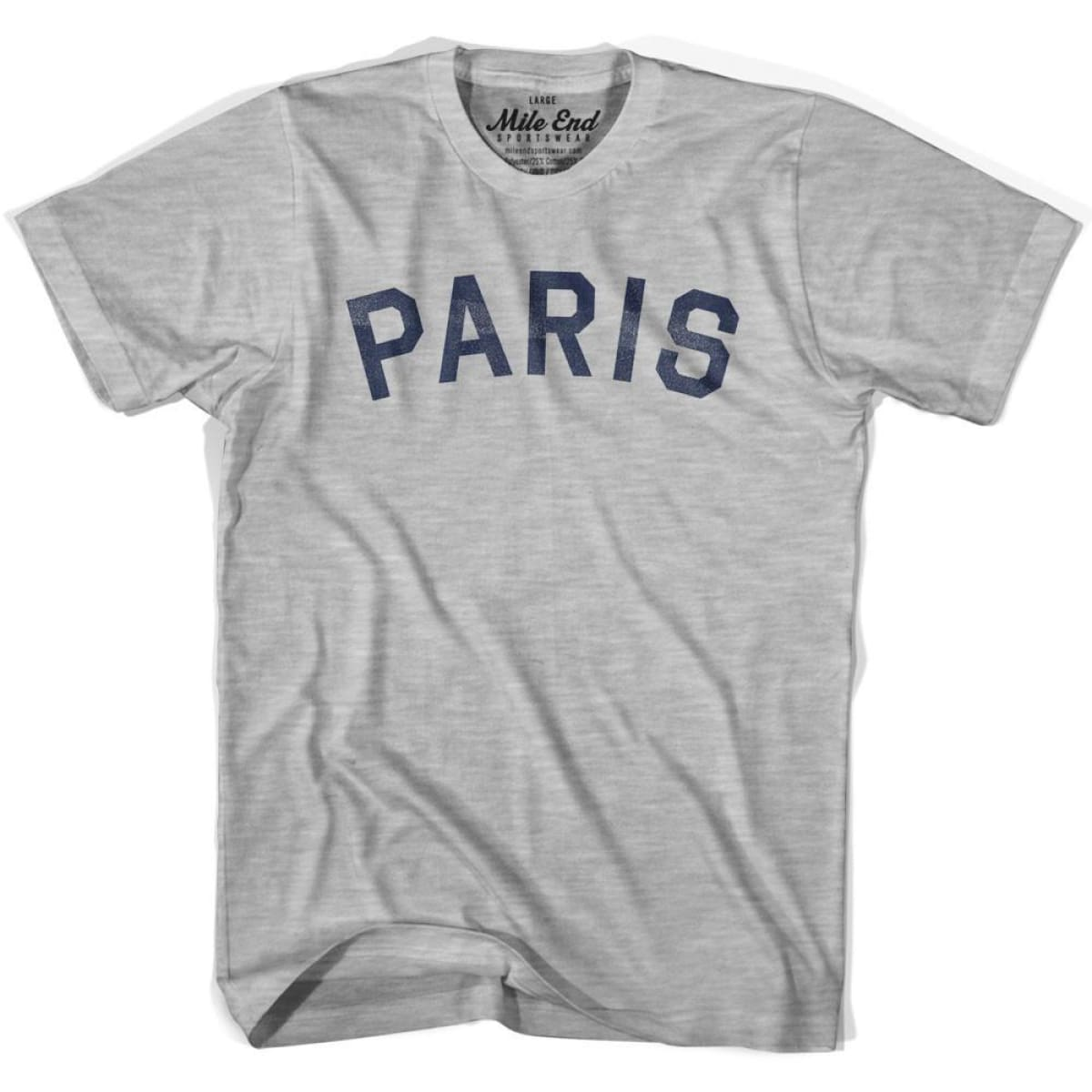 Paris City Vintage T-shirt - Grey Heather / Youth X-Small - Mile End City