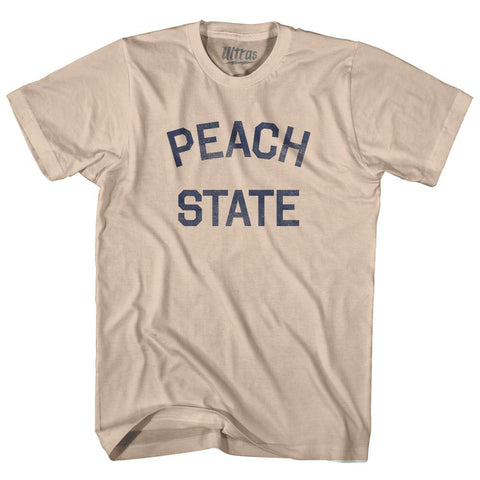 Georgia Peach State Nickname Adult Cotton T-shirt by Ultras