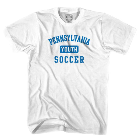 Pennsylvania Youth Soccer T-shirt - White / Youth X-Small - Ultras Soccer T-shirts