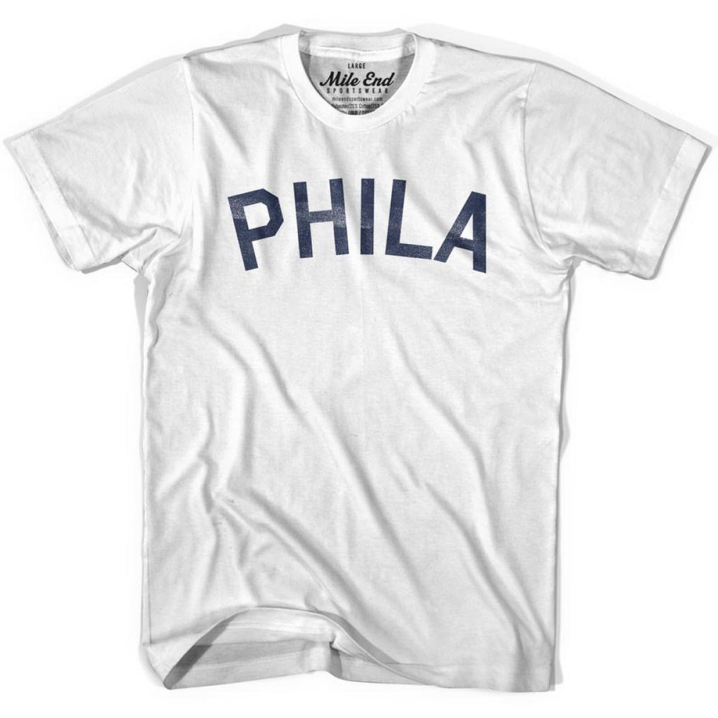 Phila City Vintage T-shirt - White / Youth X-Small - Mile End City