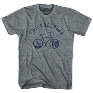 Philadelphia Bike T-shirt - Athletic Grey / Adult X-Small - Mile End City