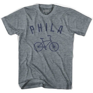 Philadelphia Phila Vintage Bike Soccer T-shirt - Athletic Grey / Youth X-Small - Ultras Club Soccer T-shirt