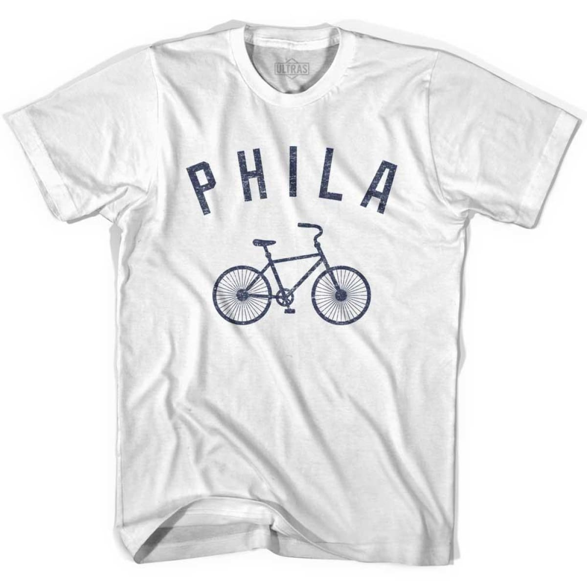 Philadelphia Phila Vintage Bike Soccer T-shirt - White / Youth X-Small - Ultras Club Soccer T-shirt