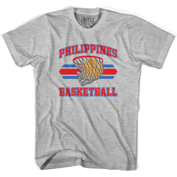 Philippines 90s Basketball T-shirts - Grey Heather / Youth X-Small - Basketball T-shirt