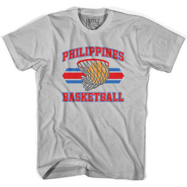 Philippines 90s Basketball T-shirts - Silver / Youth X-Small - Basketball T-shirt