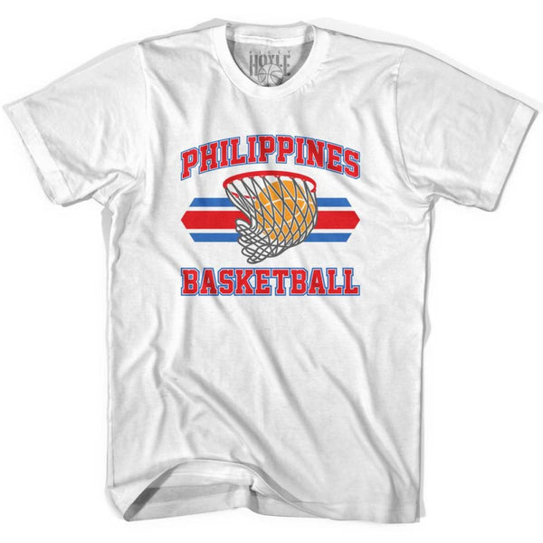 Philippines 90s Basketball T-shirts - White / Youth X-Small - Basketball T-shirt