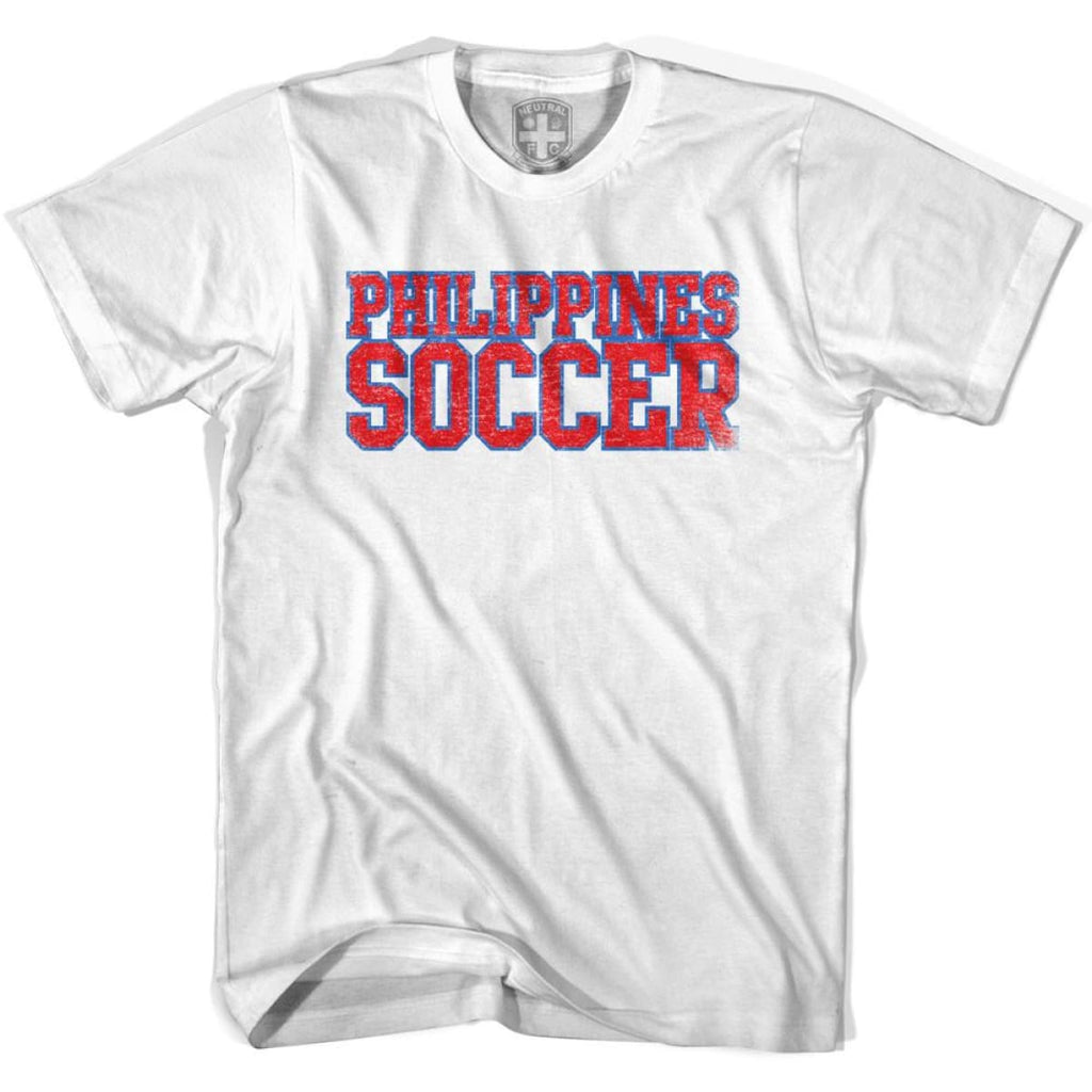 Philippines Soccer Nations World Cup T-shirt - White / Youth X-Small - Ultras Soccer T-shirts
