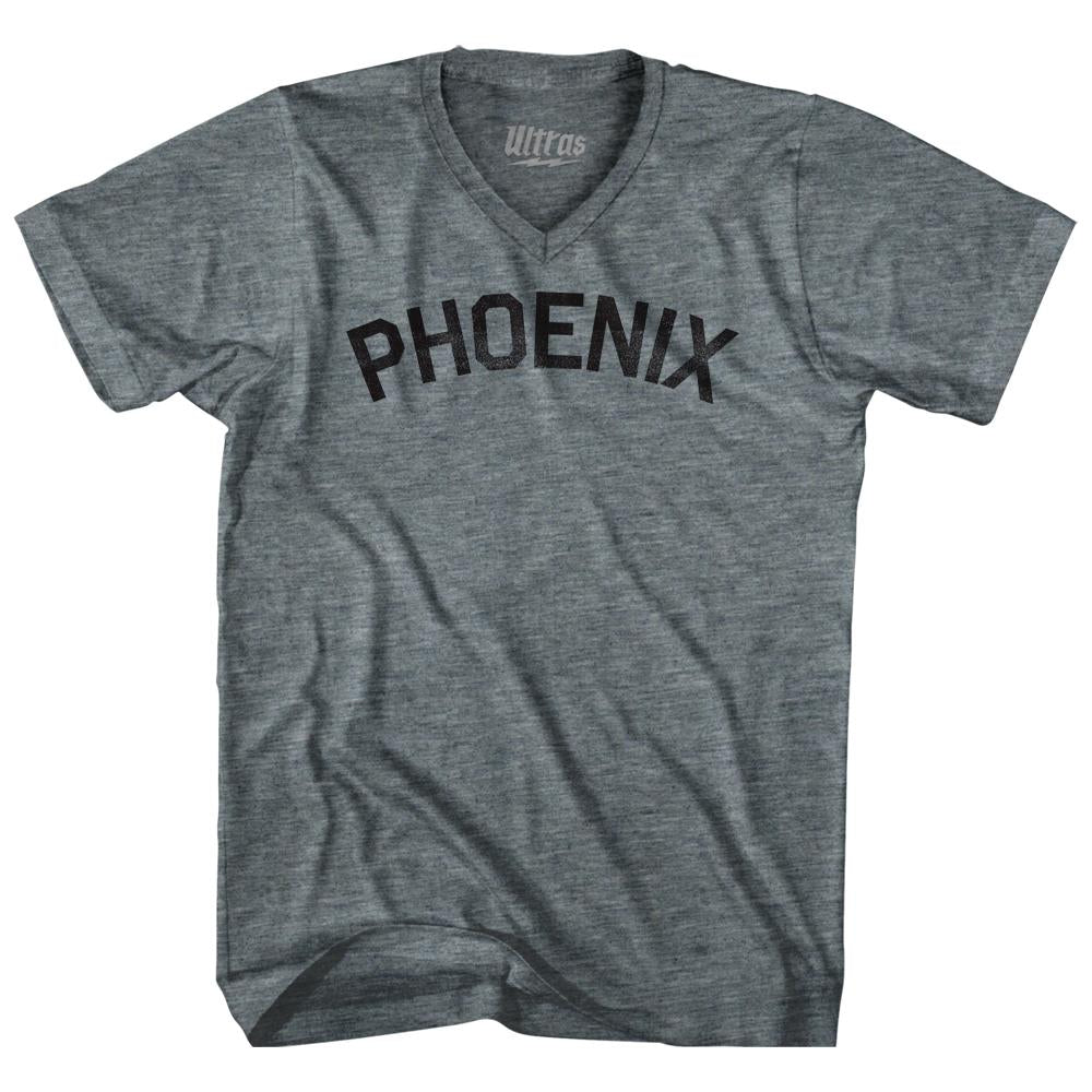 Phoenix Adult Tri-Blend V-neck Womens Junior Cut T-shirt by Ultras