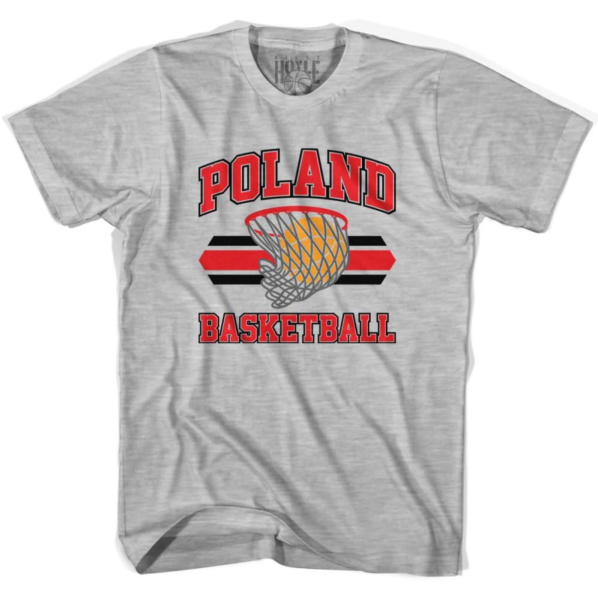 Poland 90s Basketball T-shirts - Grey Heather / Youth X-Small - Basketball T-shirt
