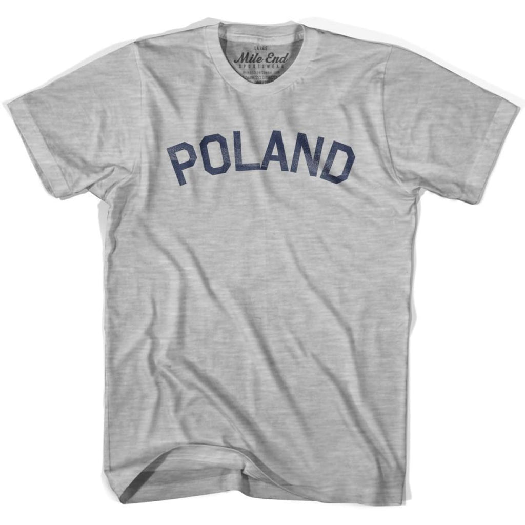 Poland City Vintage T-shirt - Grey Heather / Youth X-Small - Mile End City