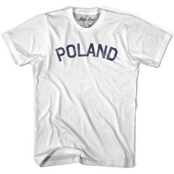 Poland City Vintage T-shirt - White / Youth X-Small - Mile End City