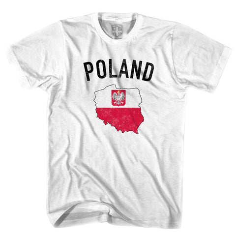 Poland Flag & Country T-shirt - White / Youth X-Small - Ultras Soccer T-shirts