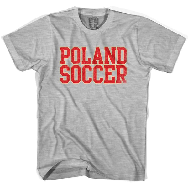 Poland Soccer Nations World Cup T-shirt - Grey Heather / Youth X-Small - Ultras Soccer T-shirts