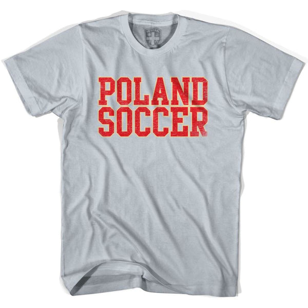 Poland Soccer Nations World Cup T-shirt - Silver / Youth X-Small - Ultras Soccer T-shirts