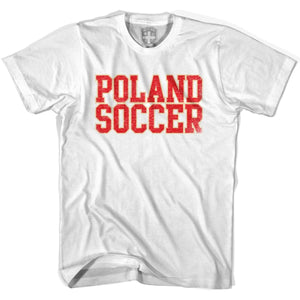 Poland Soccer Nations World Cup T-shirt - White / Youth X-Small - Ultras Soccer T-shirts
