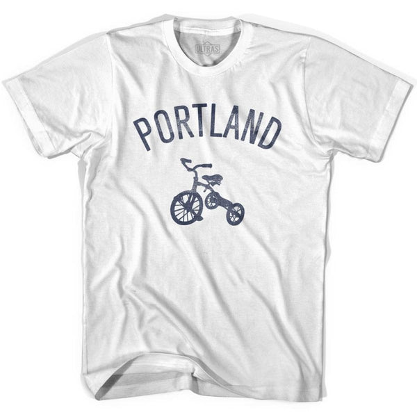 Portland City Tricycle Womens Cotton T-shirt - Tricycle City