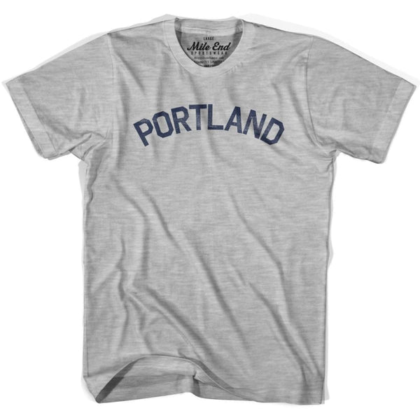 Portland City Vintage T-shirt - Grey Heather / Youth X-Small - Mile End City