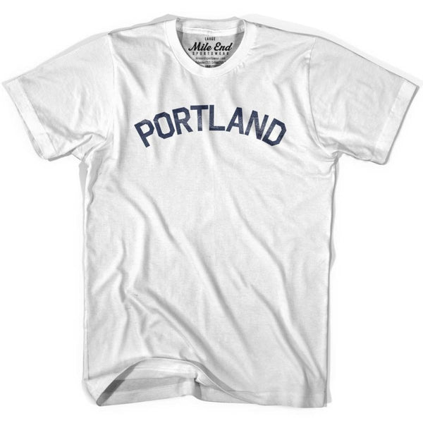 Portland City Vintage T-shirt - White / Youth X-Small - Mile End City