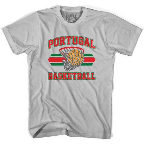 Portugal 90s Basketball T-shirts - Silver / Youth X-Small - Basketball T-shirt