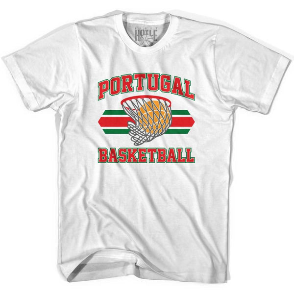Portugal 90s Basketball T-shirts - White / Youth X-Small - Basketball T-shirt