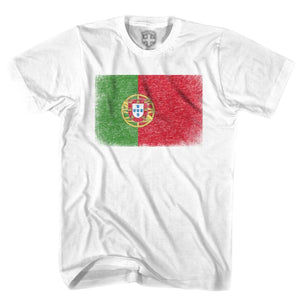 Portugal Flag T-shirt - White / Youth X-Small - Ultras Soccer T-shirts