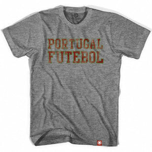 Portugal Futebol Nation Soccer T-shirt - Athletic Grey / Adult Small - Ultras Soccer Country T-shirts