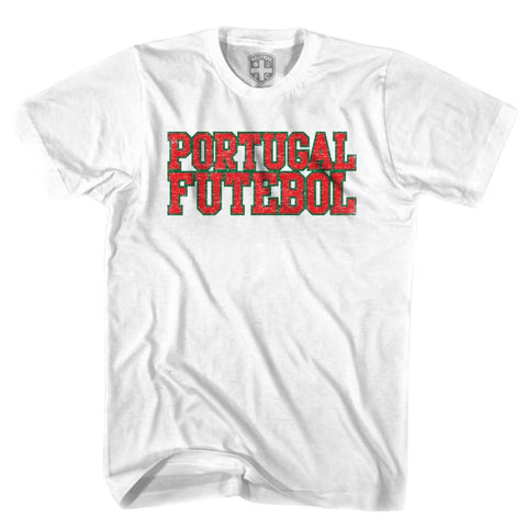 Portugal Futebol Nation Soccer T-shirt - White / Youth X-Small - Ultras Soccer T-shirts