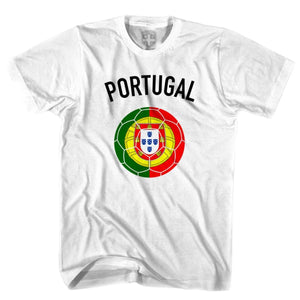 Portugal Soccer Ball T-shirt - White / Youth X-Small - Ultras Soccer T-shirts