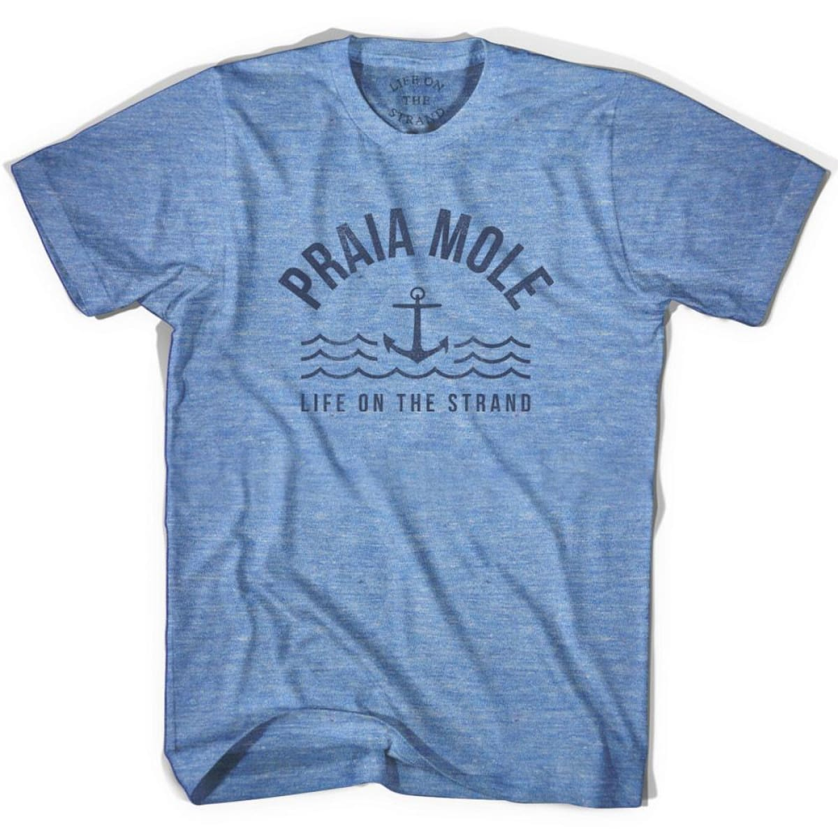 Praia Anchor Life on the Strand T-shirt - Athletic Blue / Adult X-Small - Life on the Strand Anchor