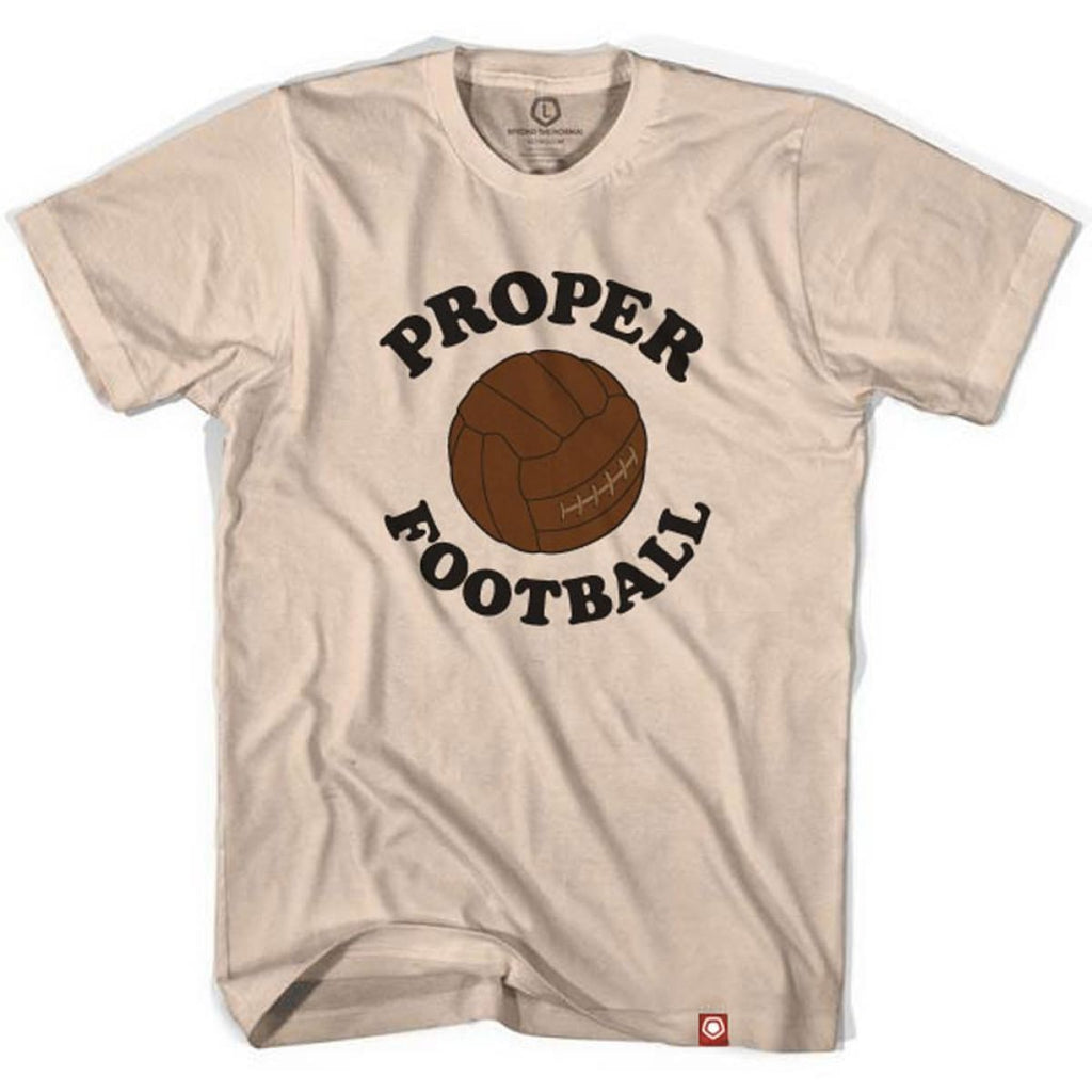 7274272c4 Proper Football Vintage Soccer Ball T-shirt - Creme   Adult Small - Ultras  Soccer