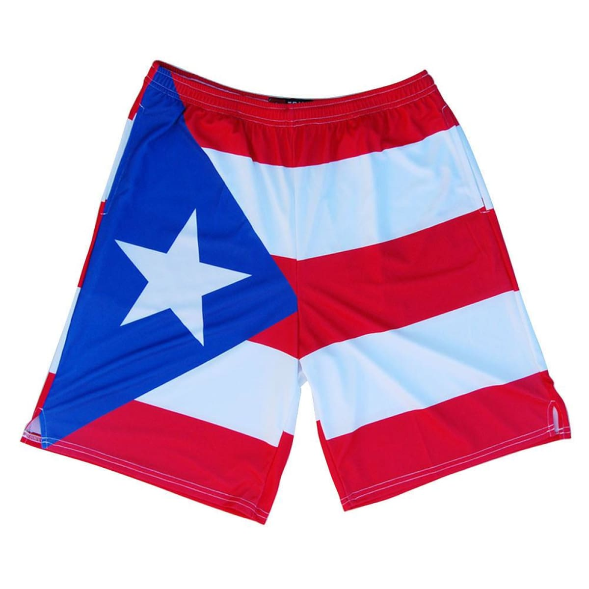 Puerto Rico Flag Sublimated Lacrosse Shorts - Tribe Lacrosse Shorts