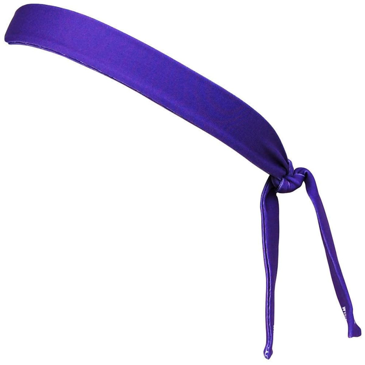 Purple and White Elastic Tie Skinny 1 Headband - Wicked Headbands