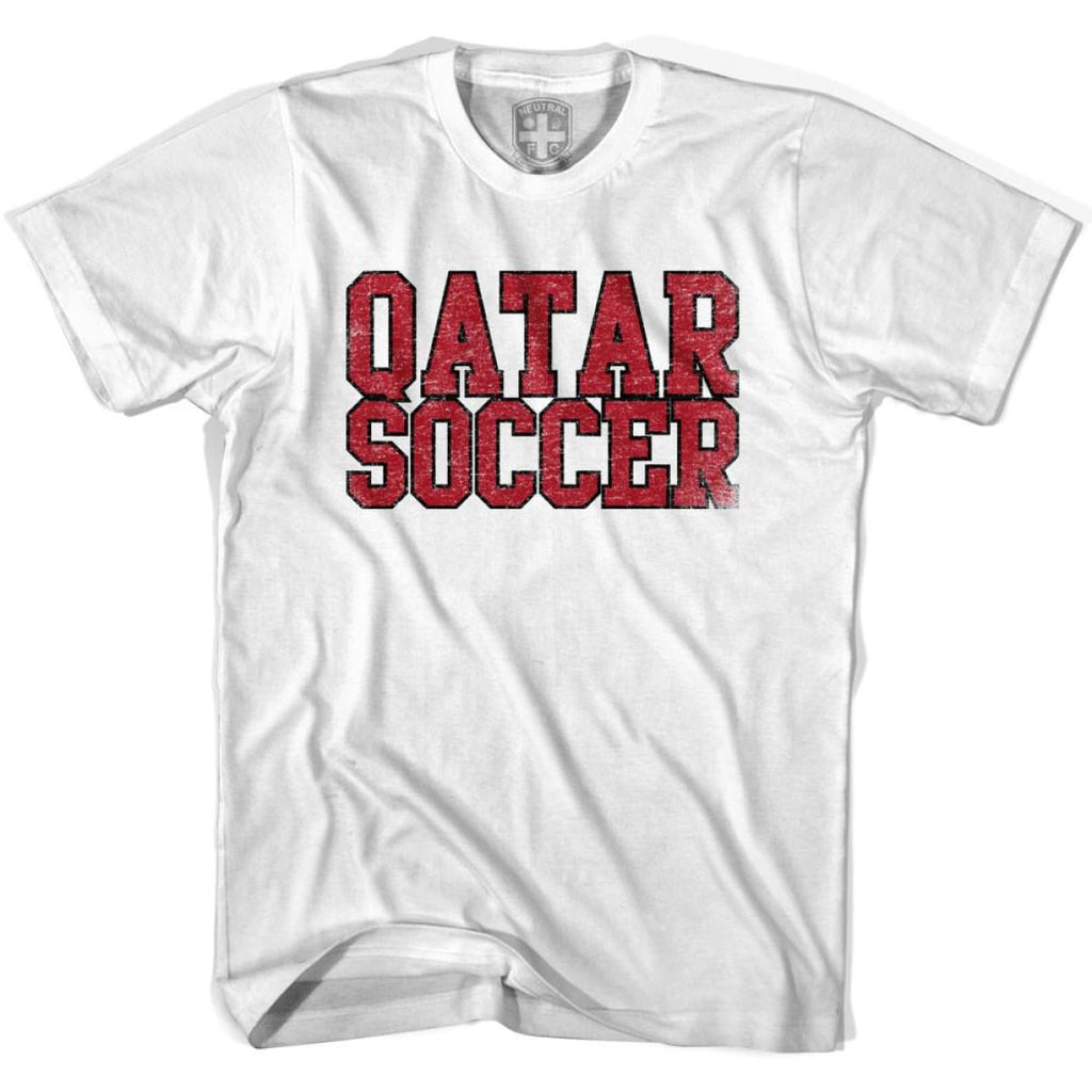 Qatar Soccer Nations World Cup T-shirt - White / Youth X-Small - Ultras Soccer T-shirts