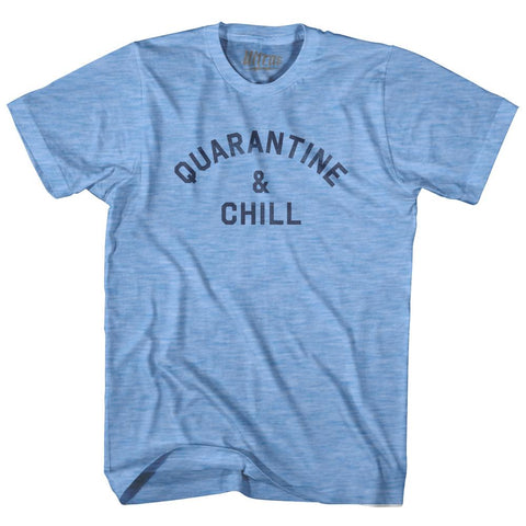 Quarantine & Chill Covid-19 Coronavirus Adult Tri-Blend T-shirt for Sale | Ultras, T-shirt