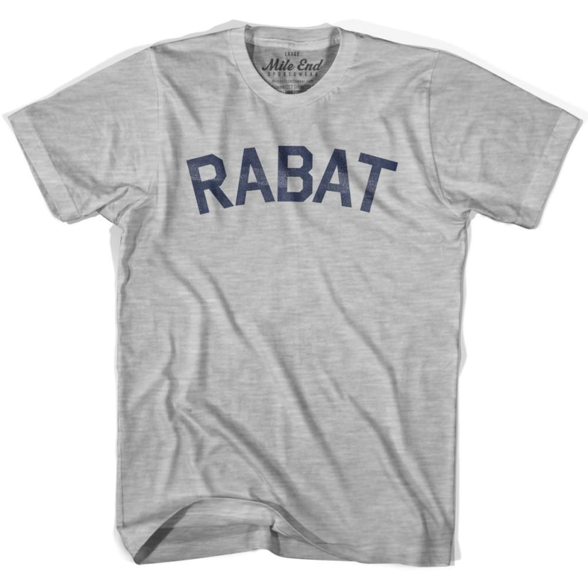 Rabat City Vintage T-shirt - Grey Heather / Youth X-Small - Mile End City