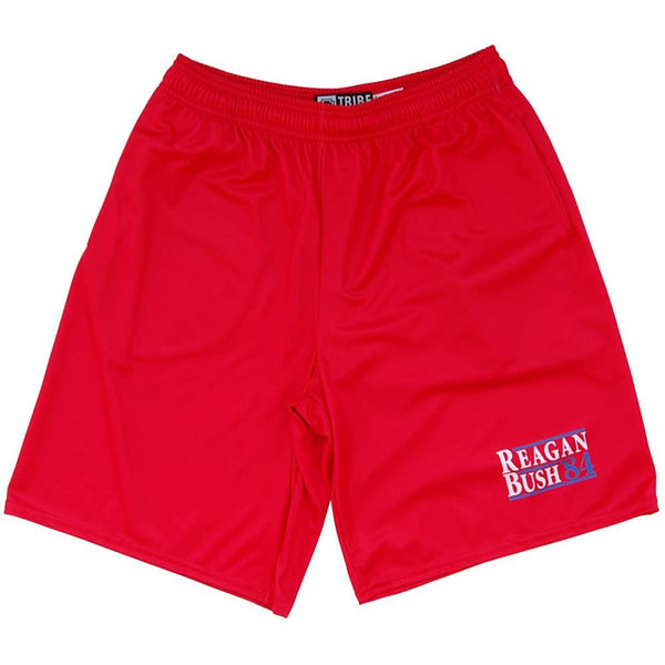 Reagan Bush 84 Lacrosse Shorts - Red / Youth X-Small - Tribe Lacrosse Shorts
