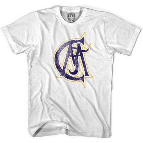 Real Madrid CAA Vintage Crest T-shirt - White / Youth X-Small - Ultras Soccer T-shirts