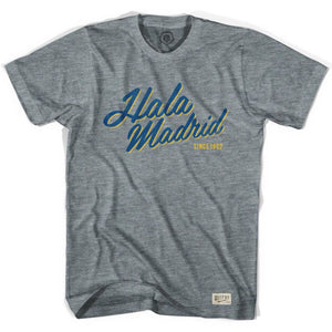 Real Madrid Hala Madrid Soccer T-shirt - Athletic Grey / Adult X-Small - Ultras Club Soccer T-shirt