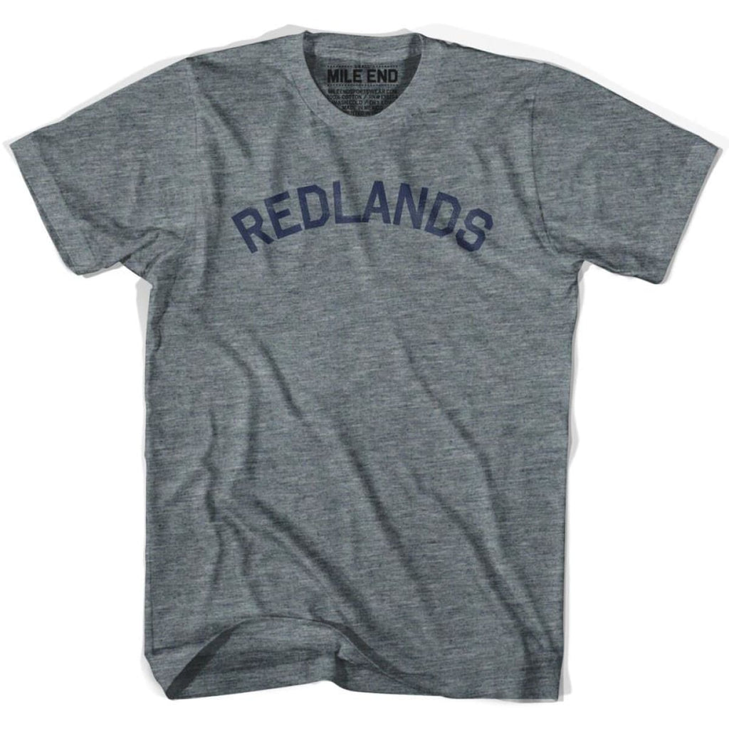 Redlands City Vintage T-shirt - Athletic Grey / Adult X-Small - Mile End City